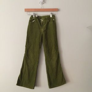 Lilly Pulitzer Girls' Corduroy Green Pants Size 8